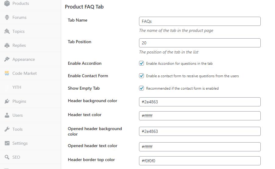 WooCommerce Product FAQ Tab